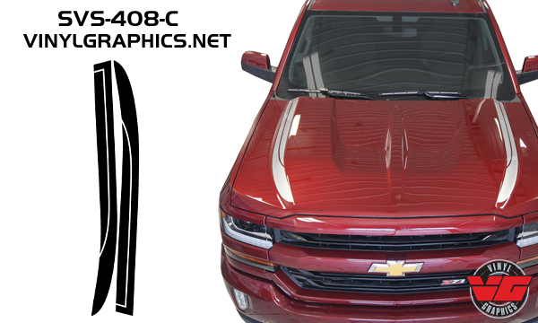 Vehicle Graphics Rally Stripe Decals 2016 Chevy