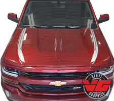 2016 Chevy Silverado Double Lateral Hood Spikes