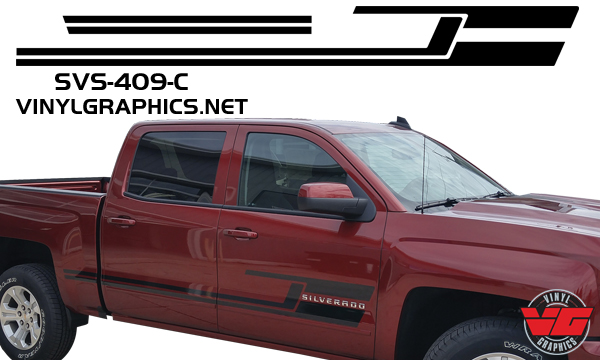 Vehicle Graphics Rally Stripe Decals 2015 2016 Chevy Silverado
