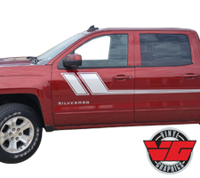 2013-2016 Chevy Silverado Side Racing Accent Stripes