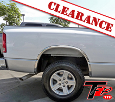 TFP 2002-2009 Dodge Ram Long Bed Stainless Steel 4 Piece Fender Trim