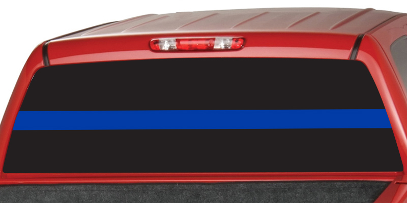 Thin Blue Line Rear Window Graphic