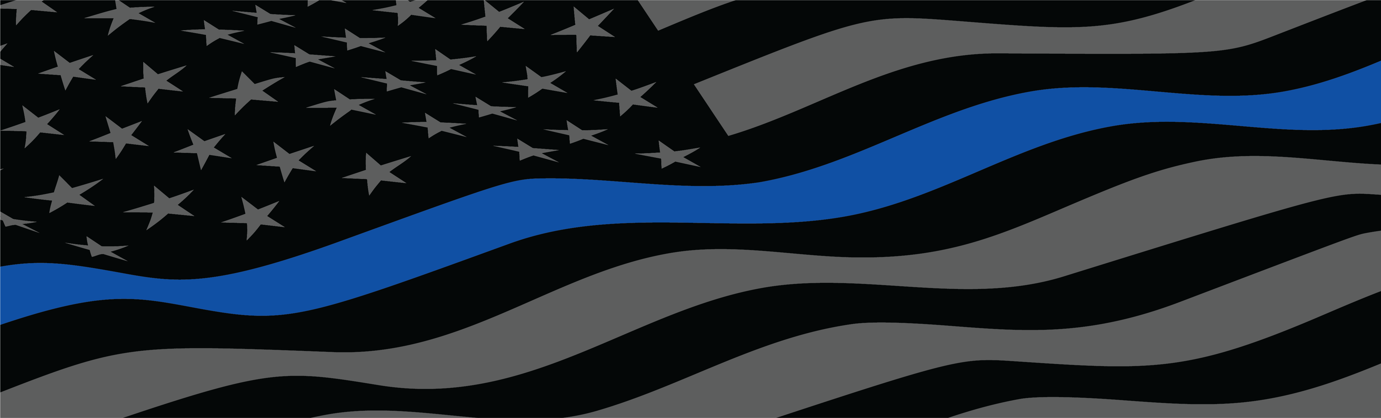 Thin blue line american flag rear window graphic by adventure graphics loading zoom