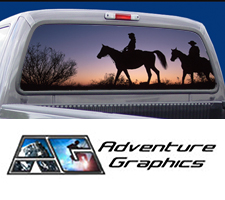 Trail Riders Custom Truck or SUV Rear Window Graphic by Adventure Graphics
