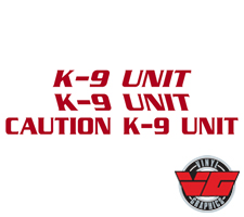 Police Reflective K-9 Unit Decal Package