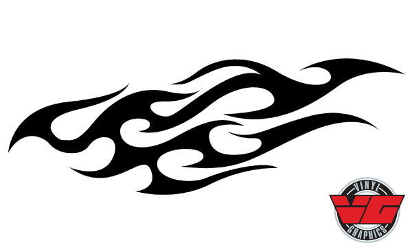 Vehicle Graphics Vg960 Tribal Flame Decal