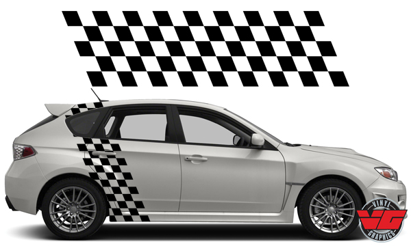 Vehicle Graphics Car Decals Amp Stickers Checkered Flag