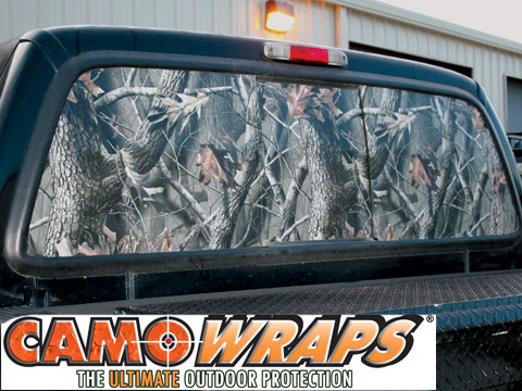 Camouflage truck suv rear window film loading zoom