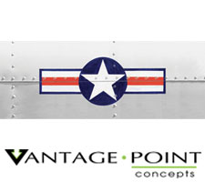 Original Series - Air Corp Star and Bar Truck or SUV Rear Window Graphic by Vantage Point Concepts
