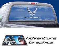 Air Force Tags Truck or SUV Rear Window Graphic by Vantage Point Concepts