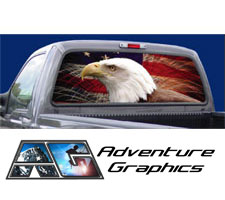 Vehicle Graphics Patriotic And Military - Custom rear window decals for cars