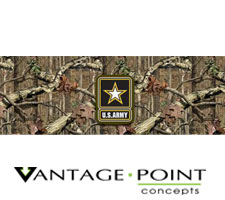 Mossy Oak Breakup Infinity w/ Army Logo Truck or SUV Rear Window Graphic by Vantage Point Concepts