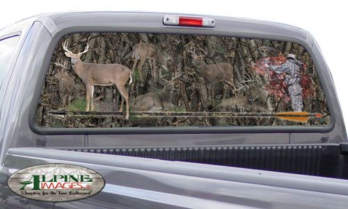 Custom Truck Rear Window Graphics And Truck Window Murals For