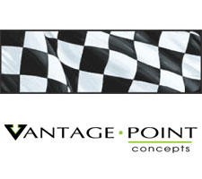 Original Series - Checkered Flag Truck or SUV Rear Window Graphic by Vantage Point Concepts