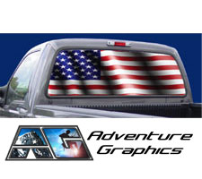 American Pride Custom Truck or SUV Rear Window Graphic by Adventure Graphics