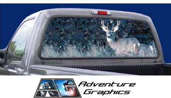 Vehicle Graphics Rear Window Graphics Buck Hunting Rear Window - Truck back window decals