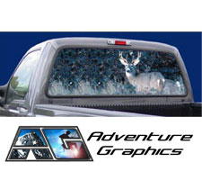 Buck Eye Custom Truck or SUV Rear Window Graphic by Adventure Graphics