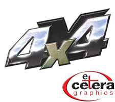 Shiny Metal 4x4 Truck Decals by Etc. Graphics