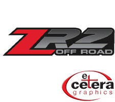 Standard ZR2 Off Road Truck Decals by Etc. Graphics