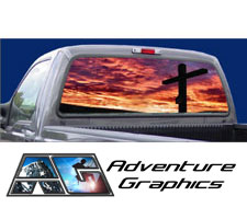 Forgiven Custom Truck or SUV Rear Window Graphic by Adventure Graphics