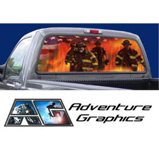 Heroes Custom Truck or SUV Rear Window Graphic by Adventure Graphics