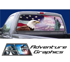Liberty Custom Truck or SUV Rear Window Graphic by Adventure Graphics