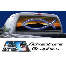 Morning Glory Custom Truck or SUV Rear Window Graphic by Adventure Graphics