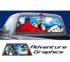 Precious Moments Custom Truck Rear Window Graphic by Adventure Graphics