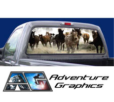 Race is On Custom Truck or SUV Rear Window Graphic by Adventure Graphics