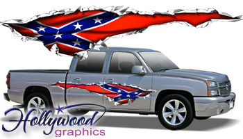 Vehicle Graphics Hollywood Graphics Rebel Tear Truck
