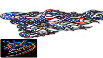 Vehicle Graphics Graphics By Style American Flag Flame