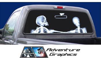 Vehicle Graphics Rear Window Graphics XRay Custom Truck Or - Rear window decals for trucks