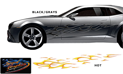 Vehicle Graphics Graphics By Style DYO Tribal Flame Decals LARGE - Auto graphics for carillusionsgfx custom automotive graphics