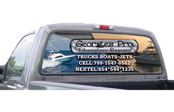 Rear Window Graphics Custom Vinyl Decals - Custom rear window decals for cars
