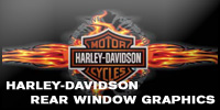 Harley-Davidson Rear Window Graphics