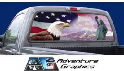 Vehicle Graphics Rear Window Graphics American Eagle