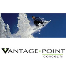 National Geographic - Backcountry Snowboarding Truck or SUV Rear Window Graphic by Vantage Point Concepts