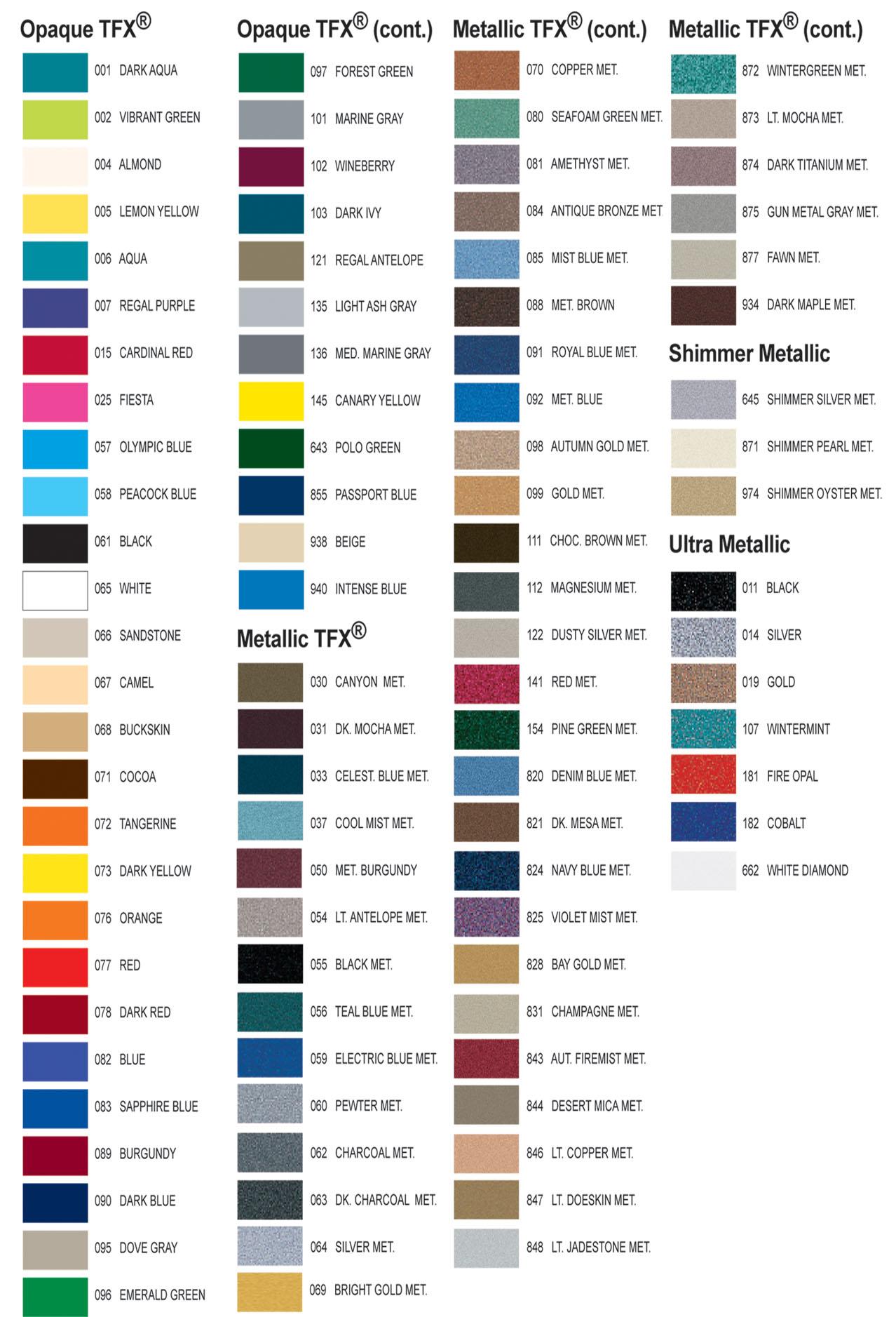 3m vinyl color chart pdf
