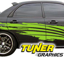Vehicle Graphics Tuner Graphics - Vinyl graphics for a car
