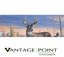 Wild Wings - Whitetail Deer-Timm Truck or SUV Rear Window Graphic by Vantage Point Concepts