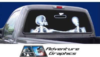 Vehicle Graphics Rear Window Graphics X Ray Custom